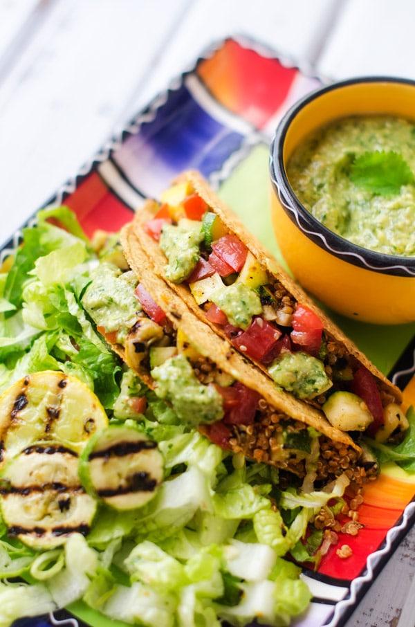 cilantro pesto quinoa