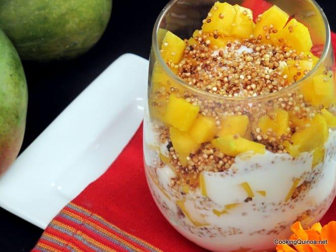 Mango Quinoa Parfaits