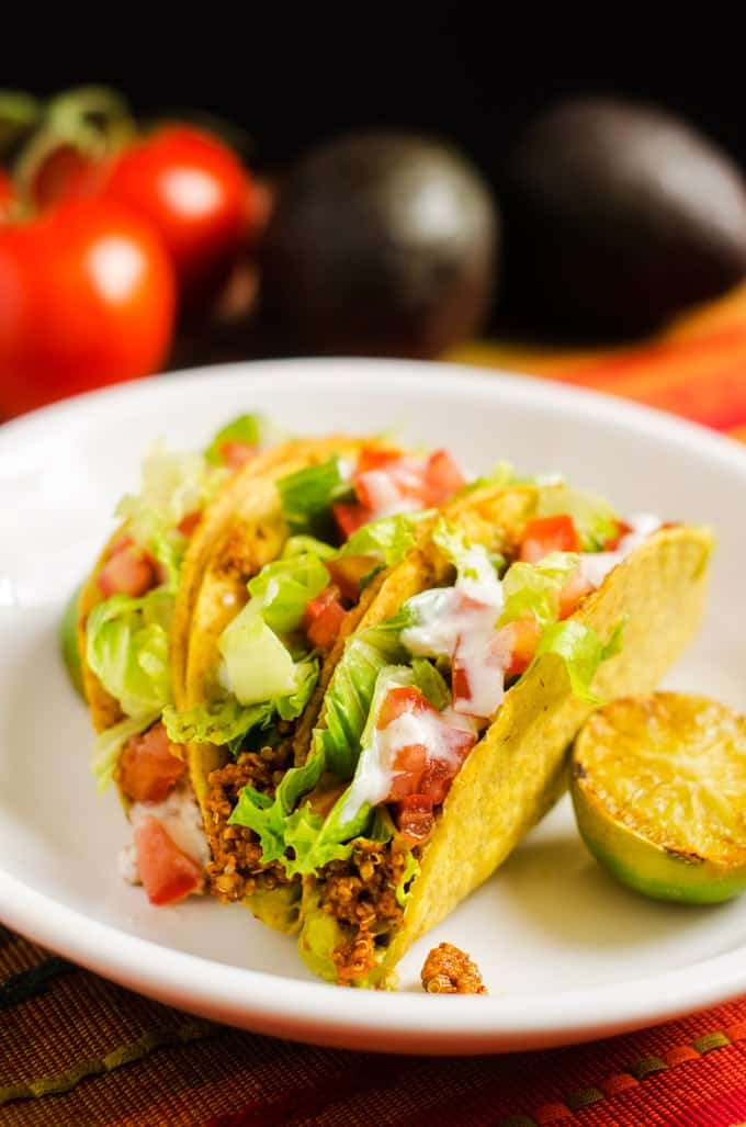 Meaty Quinoa Tacos - WendyPolisi.com