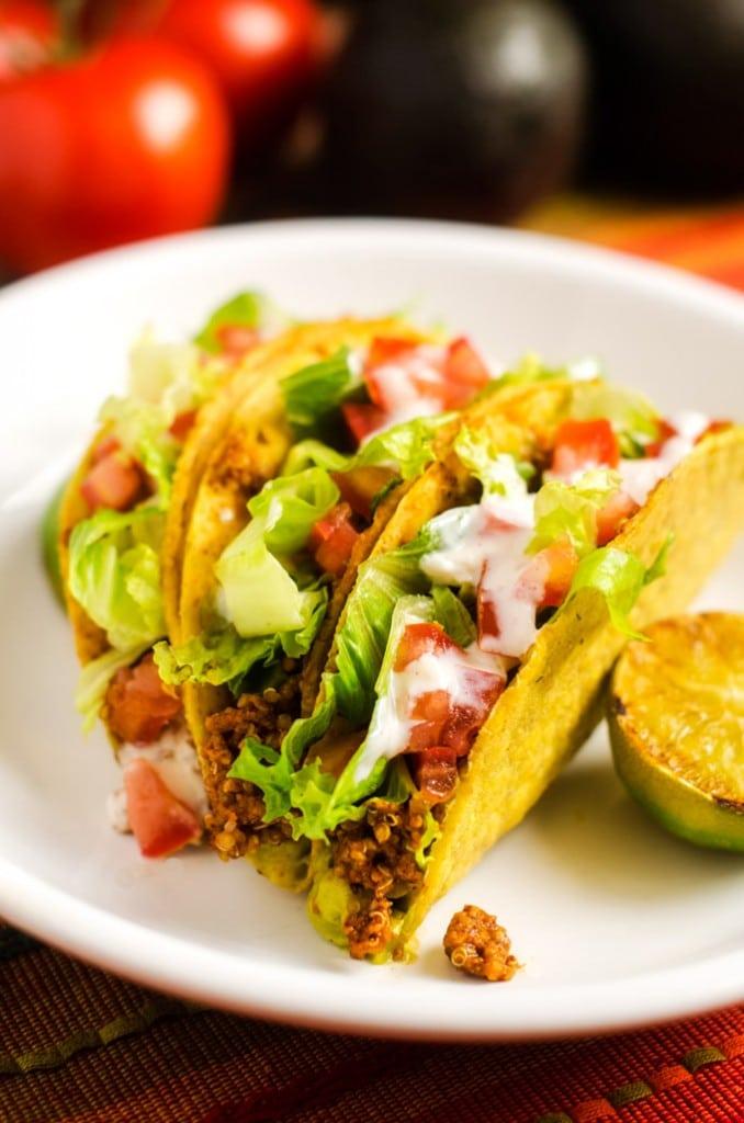 Meaty Quinoa Tacos