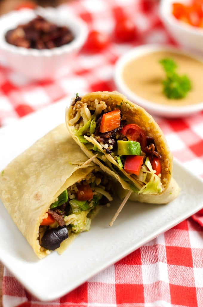 Quinoa Bacon Club Wrap- WendyPolisi.com