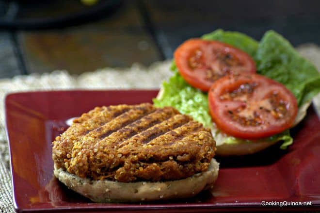 Quinoa Burger - This vegan quinoa burger is protein packed and one of the best quinoa burgers ever! WendyPolisi.com