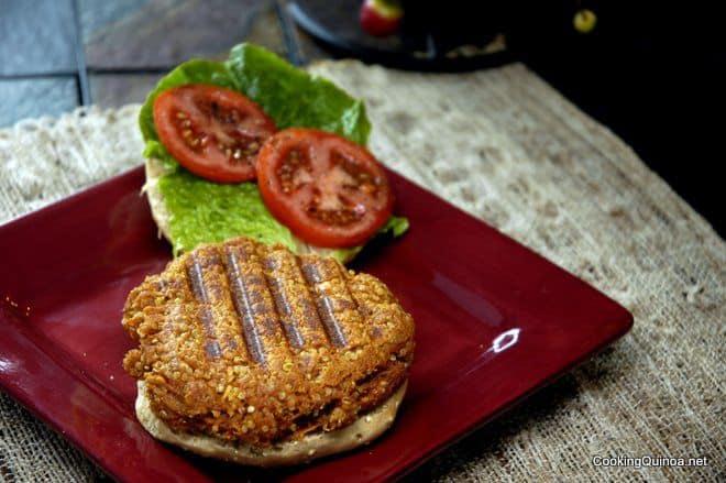 Quinoa Burger - This vegan quinoa burger is protein packed and one of the best quinoa burgers ever! WendyPolisi.com