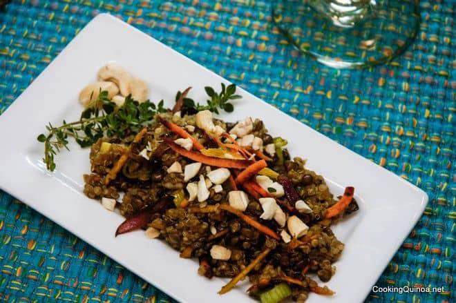 Quinoa Lentil Pilaf