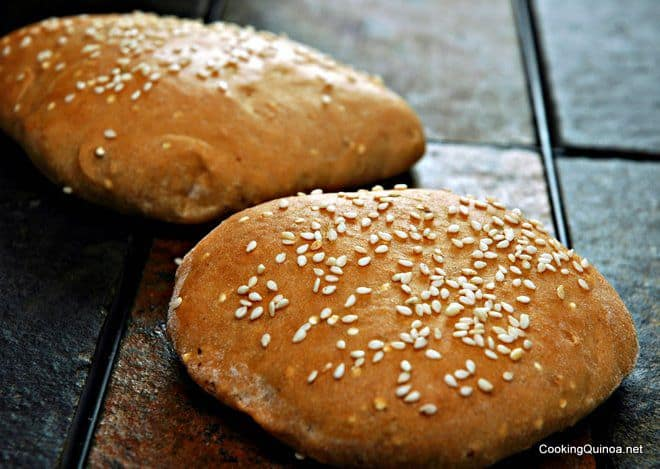 Vegan Quinoa Sandwich Buns - These are a great healthier option for those times you want bread.