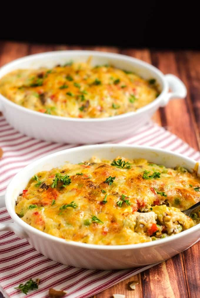Quinoa Spectacular - This gluten free casserole is a healthier makeover of Chicken Spectacular! I use a homemade cream of celery soup, but if you are short on time you could used canned. Easy to make vegetarian or vegan! - WendyPolisi.com