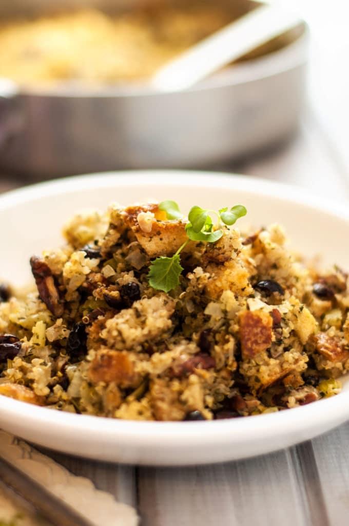 Bread, Quinoa & Cranberry Stuffing - WendyPolisi.com