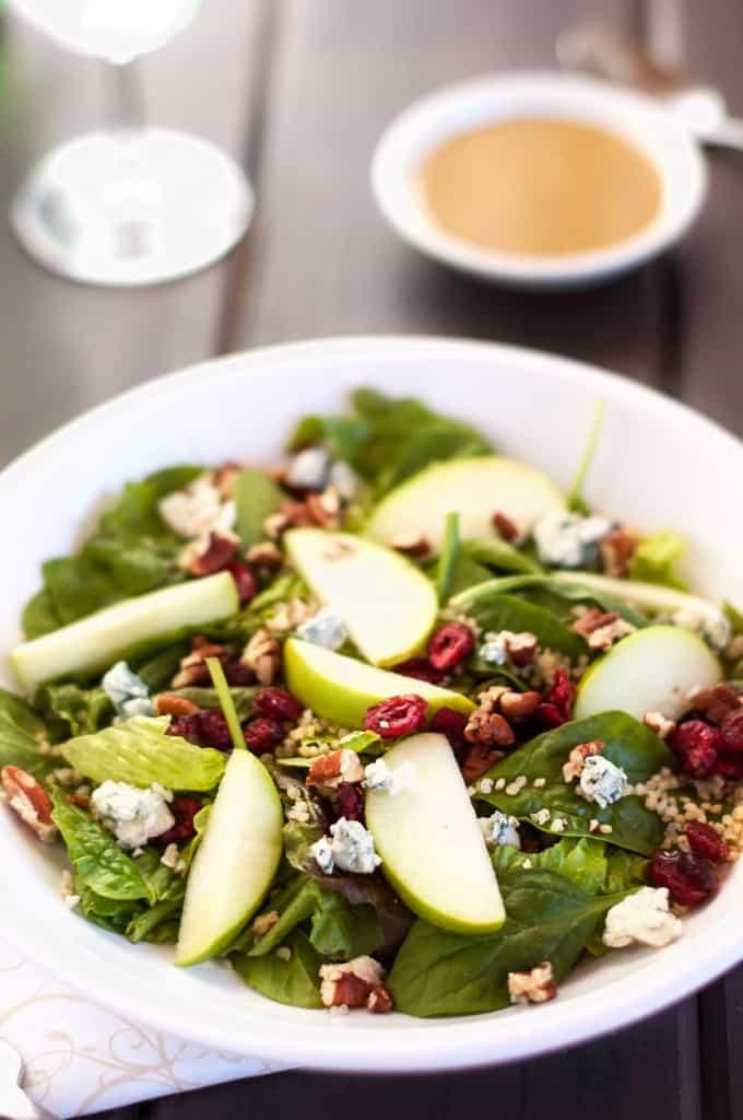 Quinoa Salad with Cranberries, Apple & Pecans