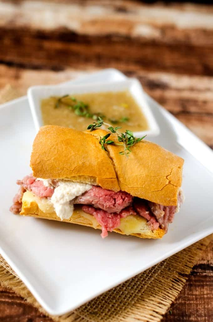 Slow Cooker French Dip Sandwiches - Gluten Free and so easy to make!