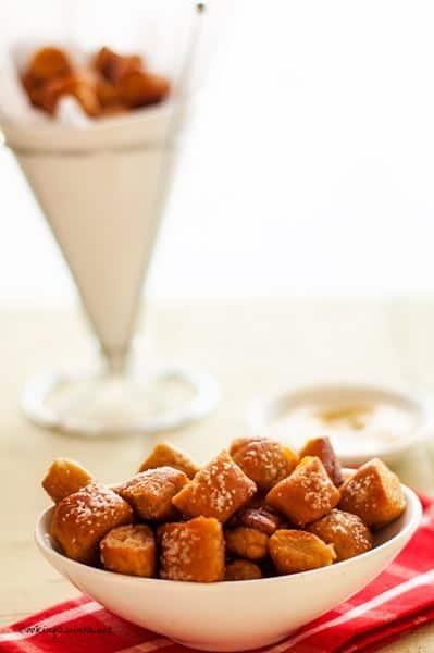 Soft Pretzel Quinoa Bites