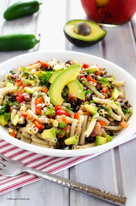 Southwestern Quinoa Pasta Salad - WendyPolisi.come