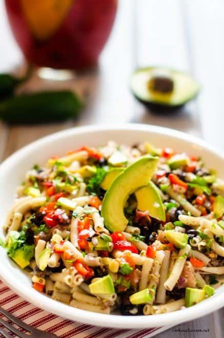 Southwestern Quinoa Pasta Salad - WendyPolisi.com