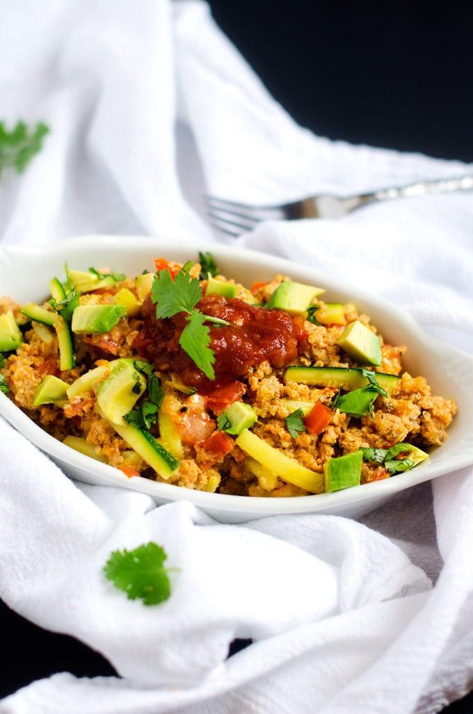 Spanish Quinoa Scramble - WendyPolisi.com