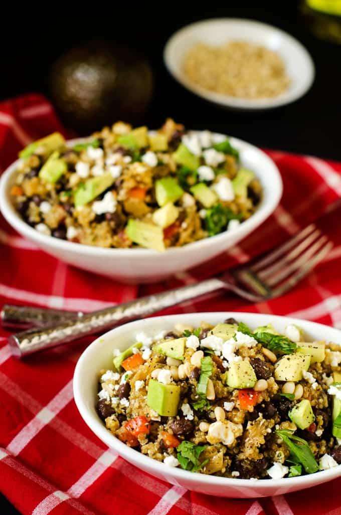 Toasted Quinoa Salad with Cilantro Vinaigrette