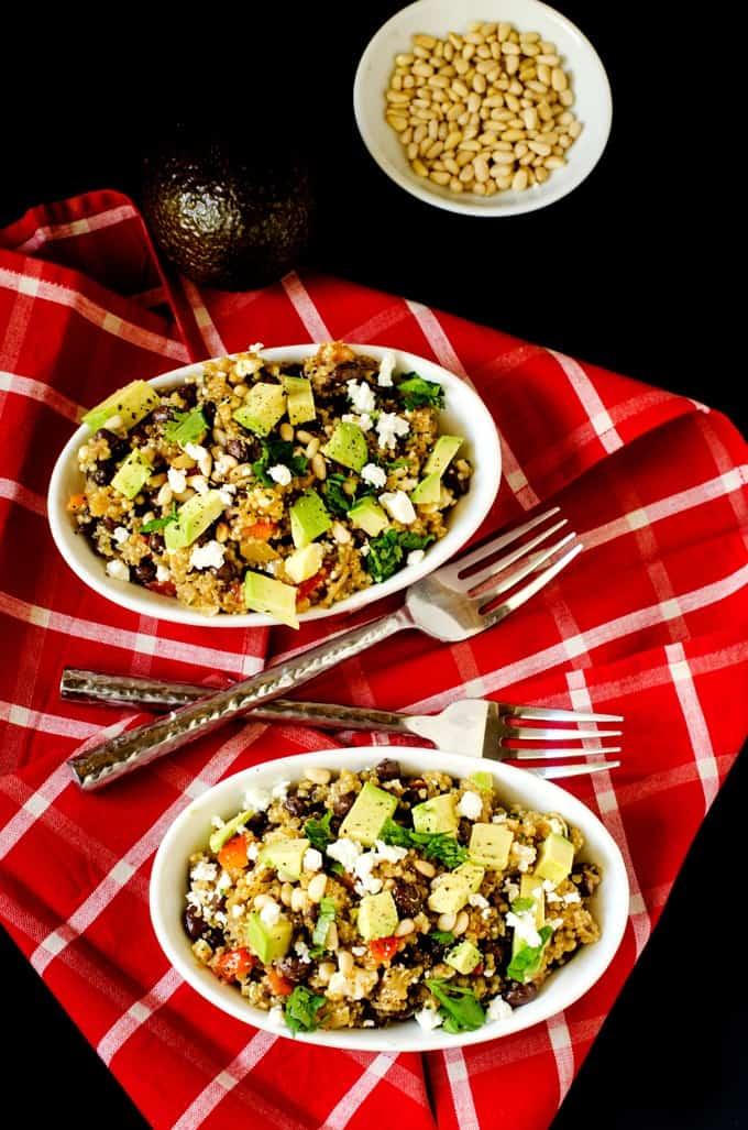 Toasted Quinoa Salad with Cilantro Vinaigrette - WendyPolisi.com