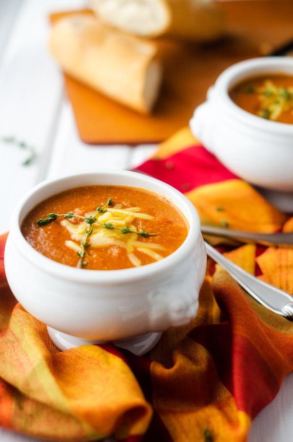 Tomato Cheddar Quinoa Soup - WendyPolisi.com