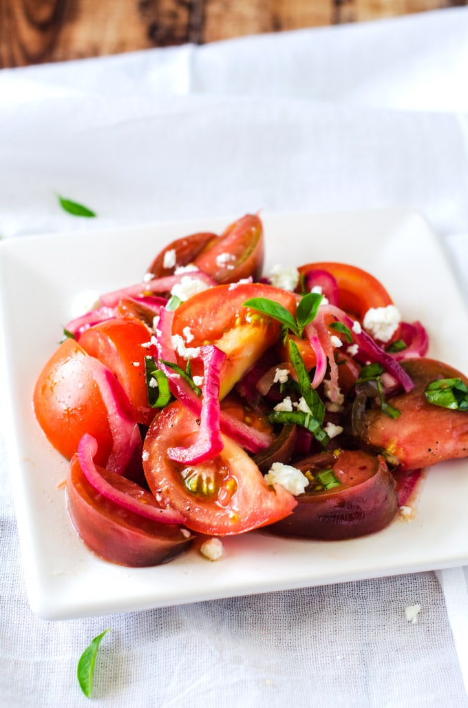 Tomato Salad with Goat Cheese - WendyPolisi.com