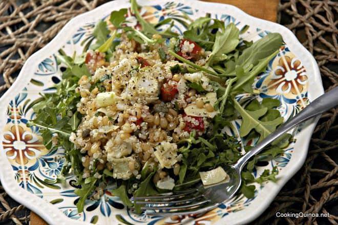 Wheatberry Quinoa Salad
