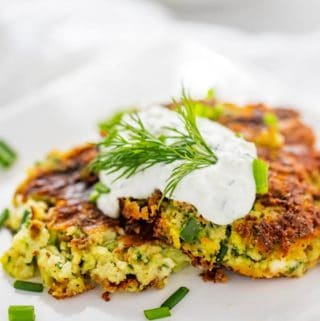 Zucchini Fritters Recipe with Feta