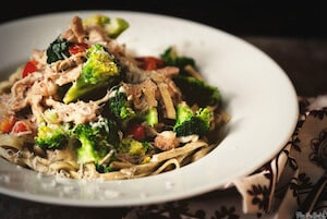 Slow Cooker Chicken and Broccoli Sauce