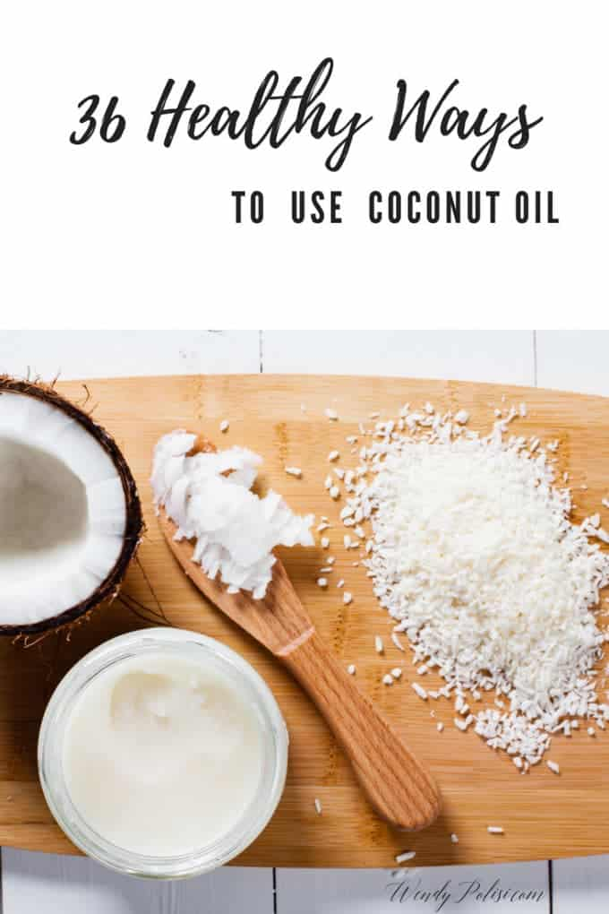 You have heard coconut oil is good for you, but aren't sure how to use it? Here are 36 Healthy Ways to Use Coconut Oil for beauty, health and cooking!