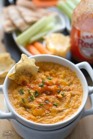 Buffalo Chicken Dip with Zucchini