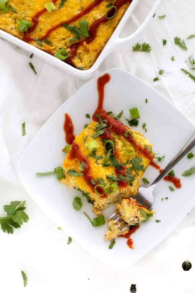 Chili Rellenos Quinoa Breakfast Casserole
