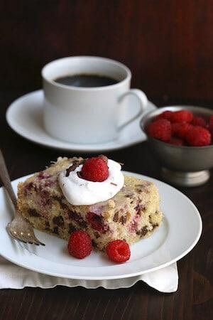 Healthy Slow Cooker Raspberry Coconut Cake