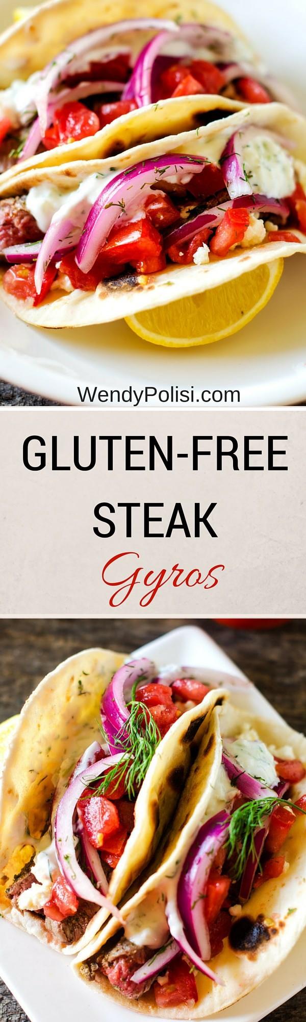 Gluten Free Steak Gyros - WendyPolisi.com - #udisglutenfree