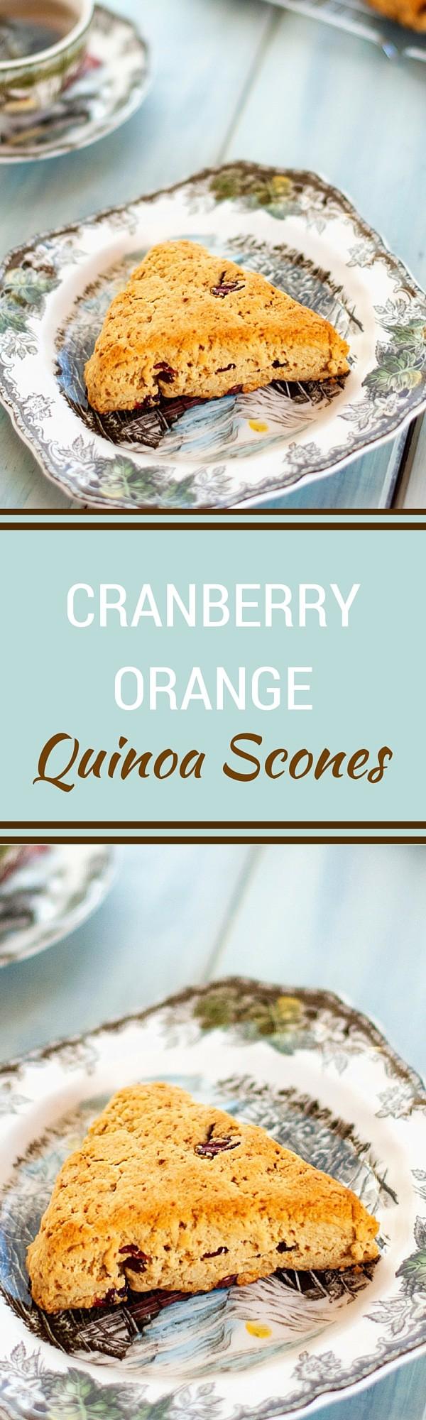 Cranberry Orange Quinoa Scones