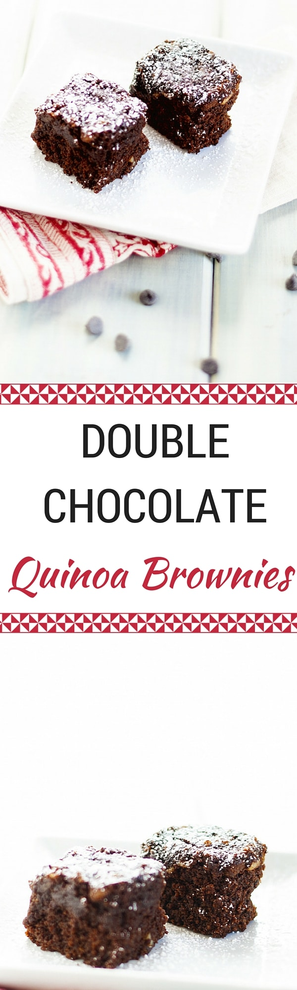 Double Chocolate Quinoa Brownies - Wendy Polisi