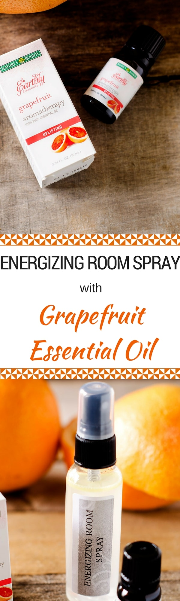 Energizing Room Spray with Grapefruit Essential Oil