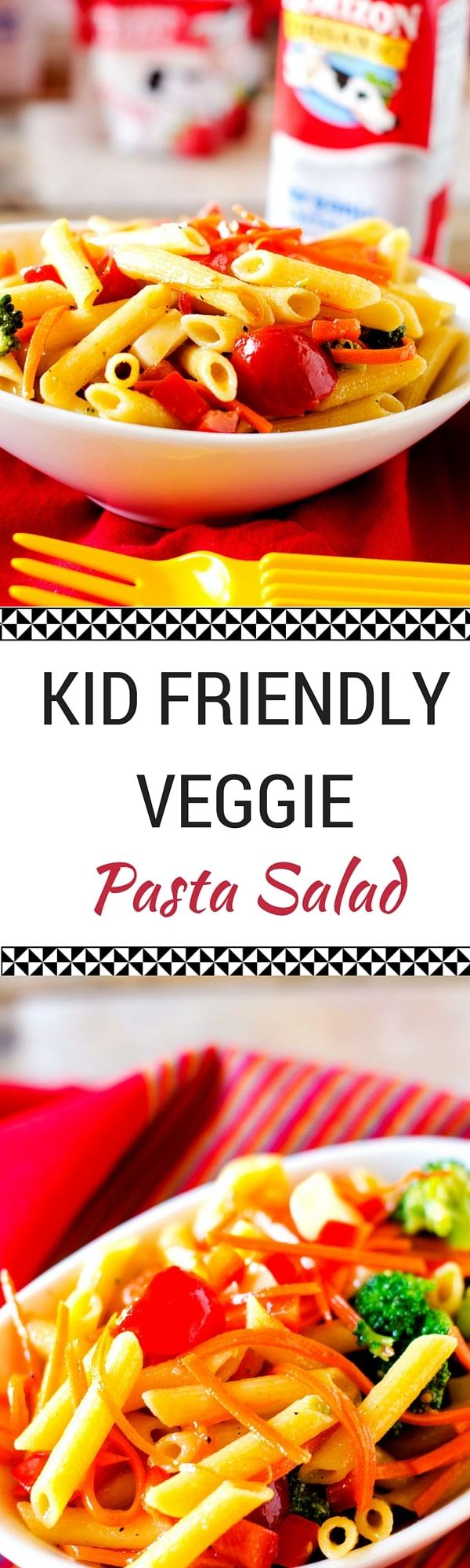 Have a Kid Friendly Horizon Lunch with this Veggie Pasta Salad - Horizon takes the stress out of packing lunch for busy moms. My kids love their products and I feel good about them!