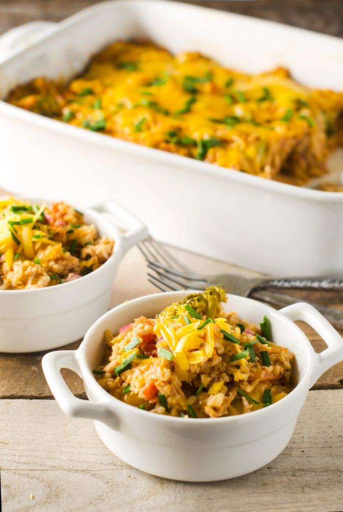 Quick & Easy Dinner: BBQ Ranch Chicken Broccoli Casserole