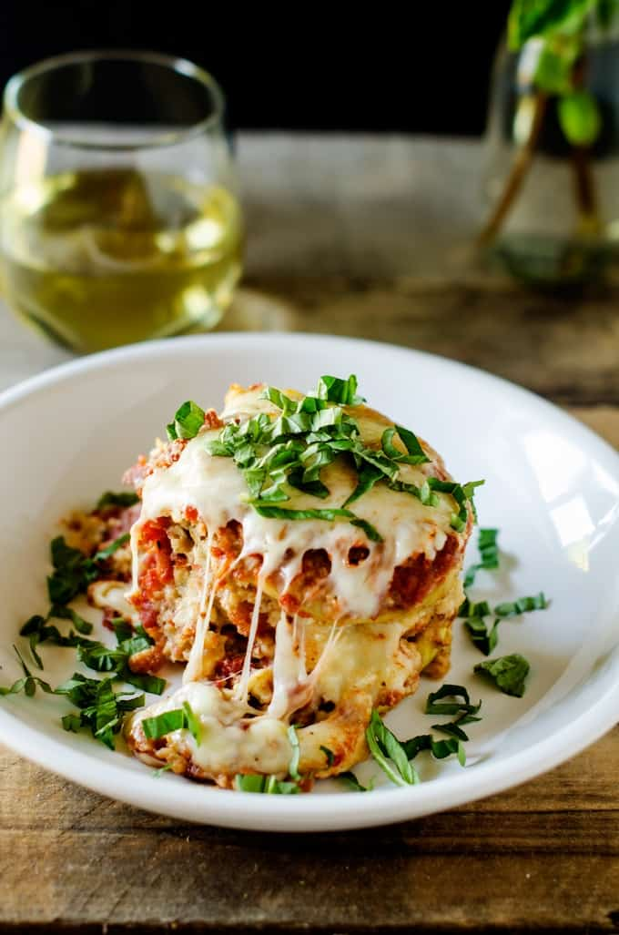 Slow Cooker Eggplant Parmesan - This Gluten Free Crockpot Eggplant Parmesan is perfect for easy entertaining!