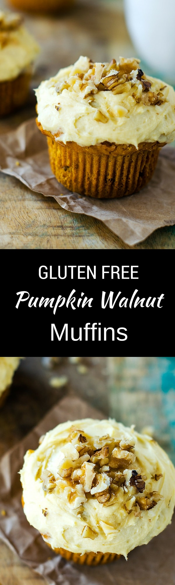 Gluten Free Pumpkin Walnut Muffins - These muffins an an amazing addition to your holiday brunch! So easy thanks to Bob's Red Mill 1-to-1 Baking Flour.