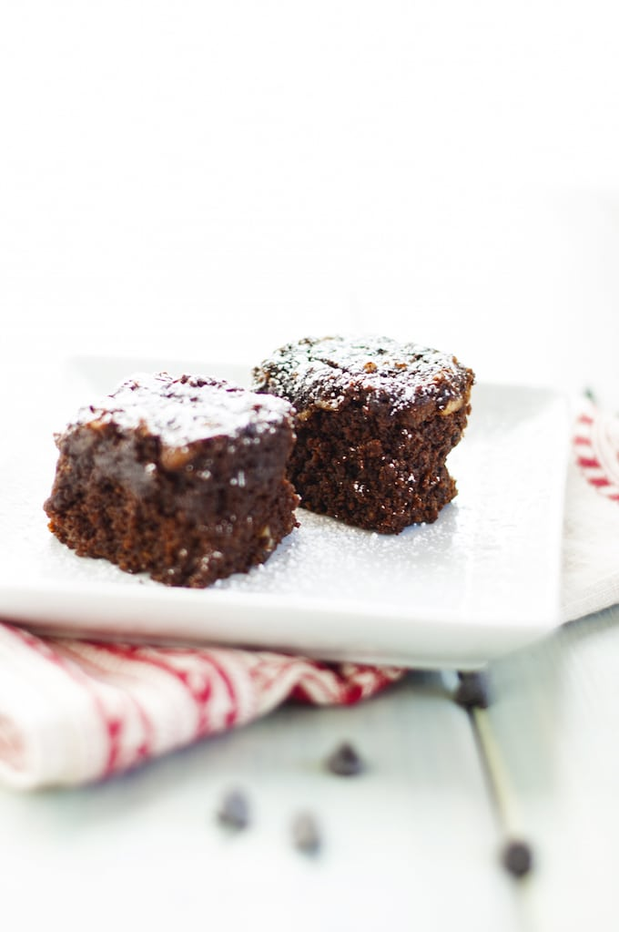 Double Chocolate Quinoa Brownies - These gluten free quinoa brownies are rich and decadent. They even have a vegan option! | WendyPolisi.com
