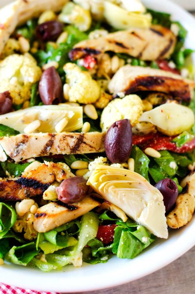 Marinated Mediterranean Grilled Chicken Salad - Wendy Polisi