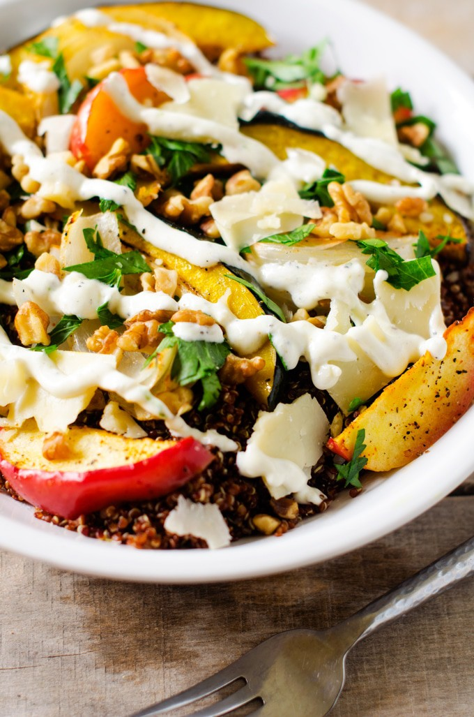 Roasted Fruit and Vegetable Quinoa Salad - Wendy Polisi