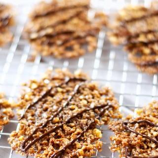 Coconut Quinoa Florentine Lace Cookies