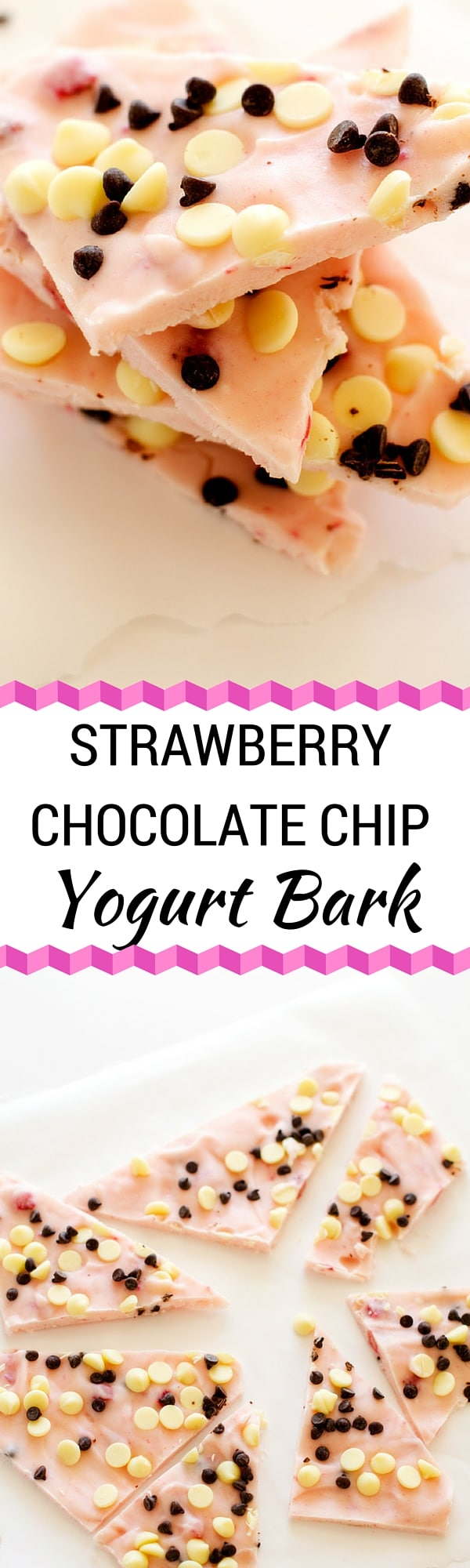 Strawberry Chocolate Chip Yogurt Bark - You won't believe how excited your kids get over this easy to make snack! - WendyPolisi.com