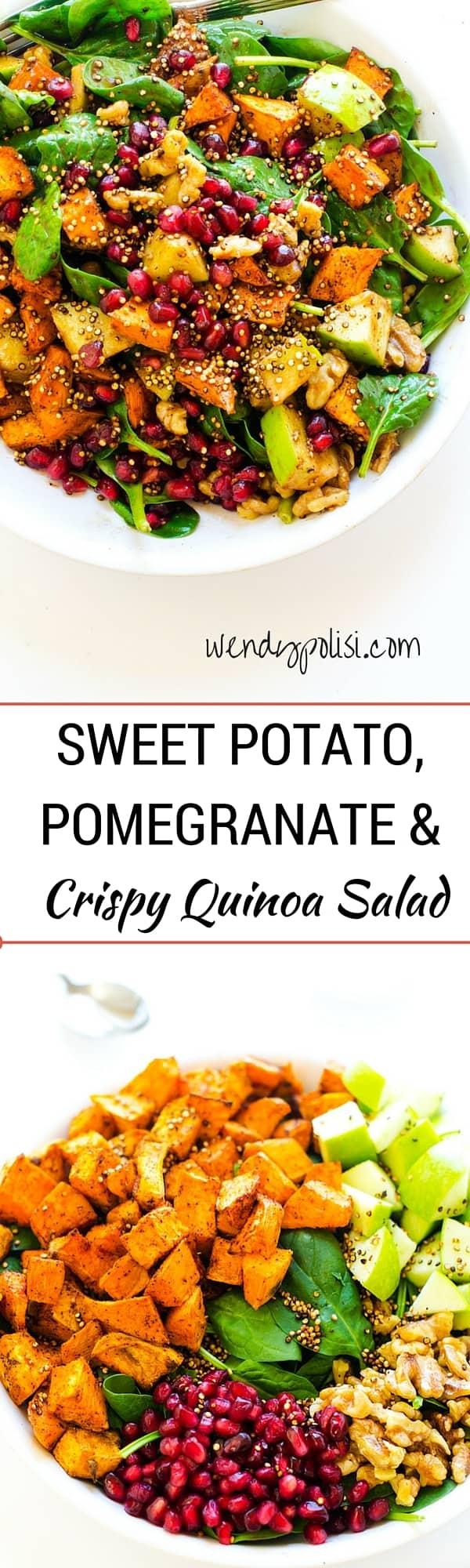 Sweet Potato, Pomegranate & Crispy Quinoa Salad-1