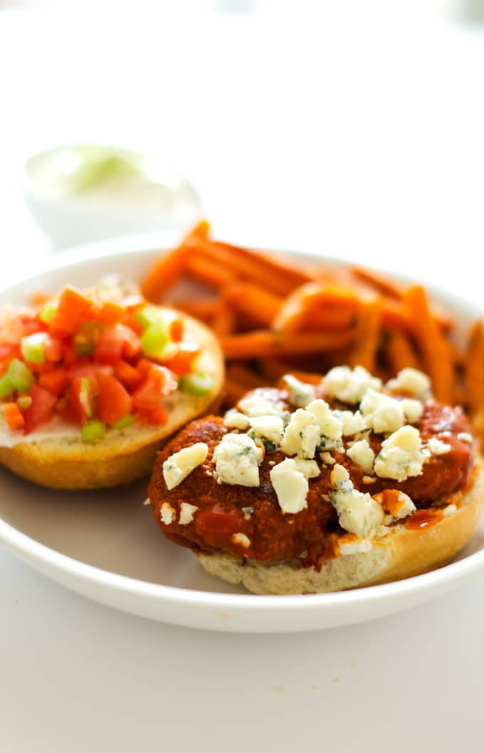 Buffalo Chicken Sandwiches - These Quick & Easy Buffalo Chicken Sandwiches are a quick, easy and wholesome family meal.