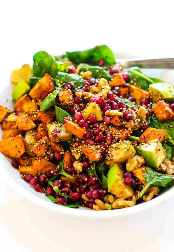 Close up photo of Sweet Potato Quinoa Salad.