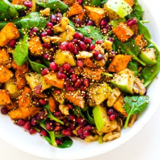 Sweet Potato Quinoa Salad with Pomegranate