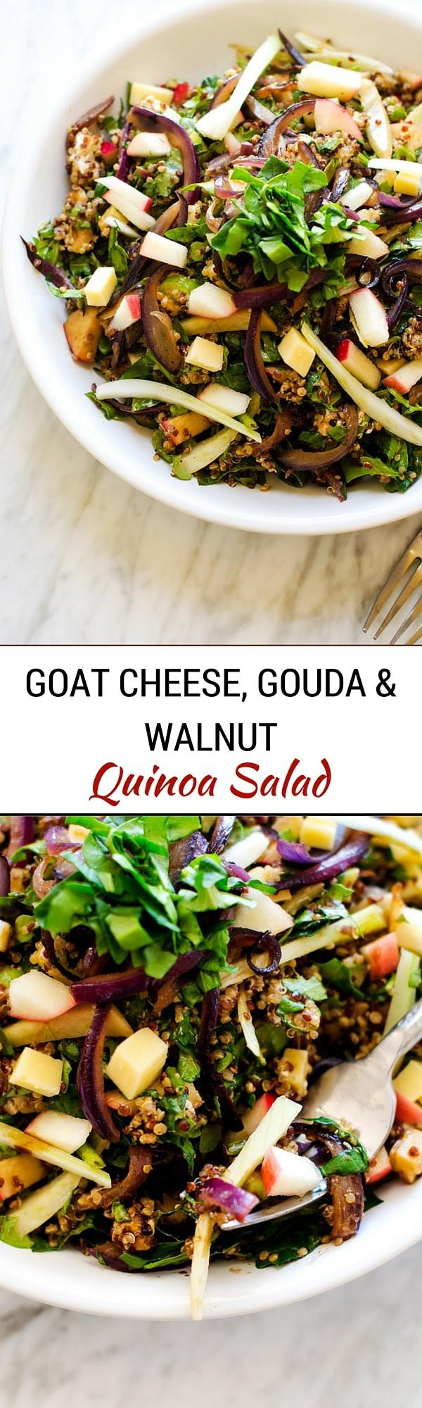 Goat Cheese, Gouda & Walnut Quinoa Salad - WendyPolisi.com