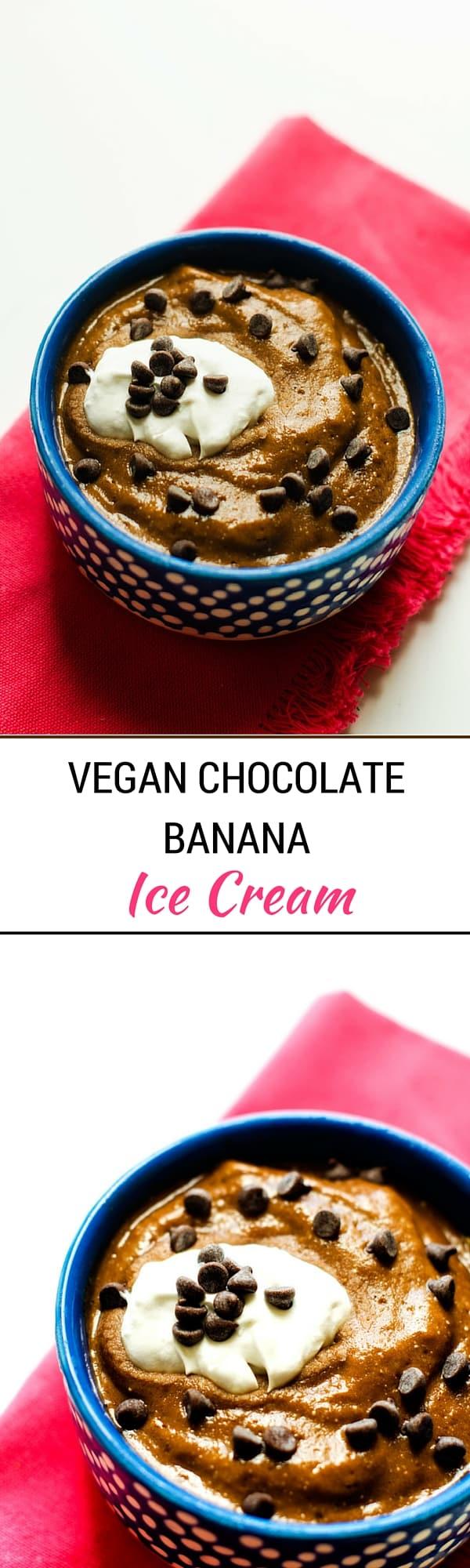 Vegan & Gluten Free Chocolate Banana Ice Cream
