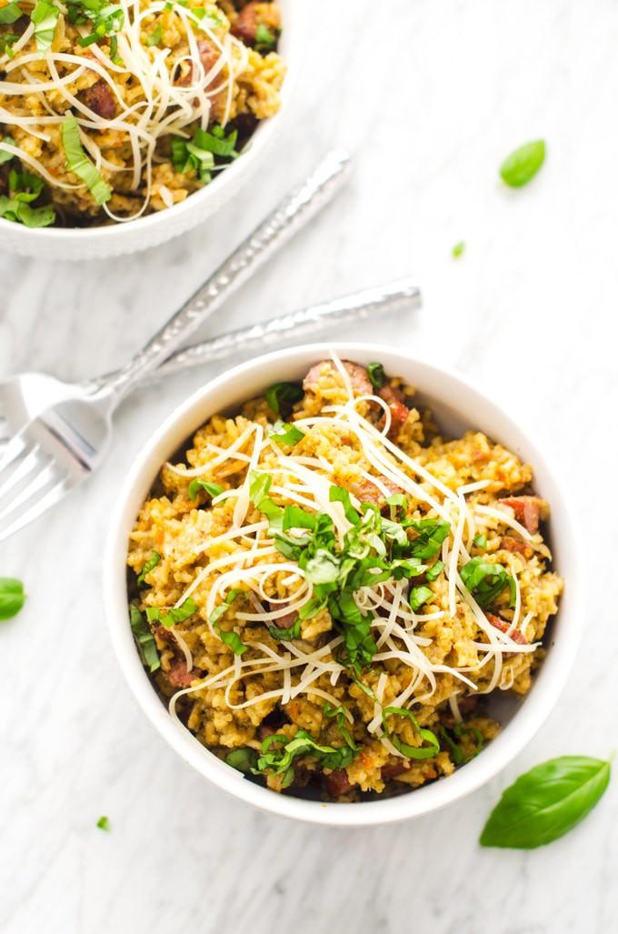 pesto-sausage-rice-skillet-4