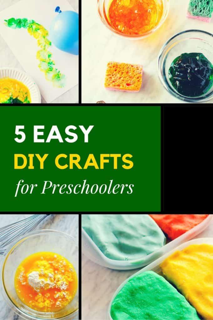 5 Easy DIY Crafts for Preschoolers