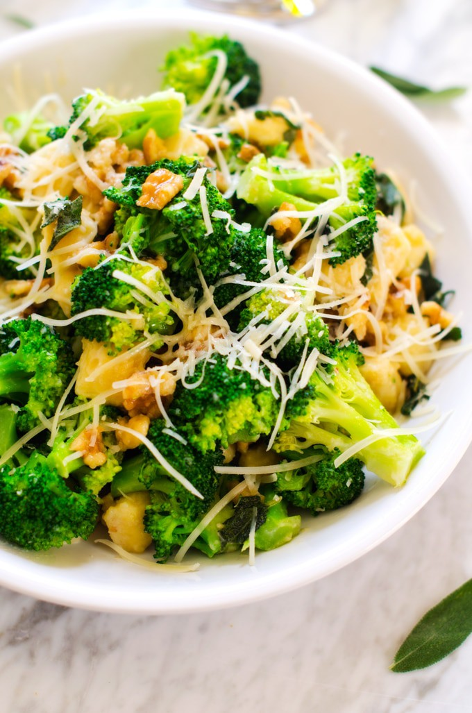 Gluten-Free Gnocchi with Broccoli, Sage & Parmesan